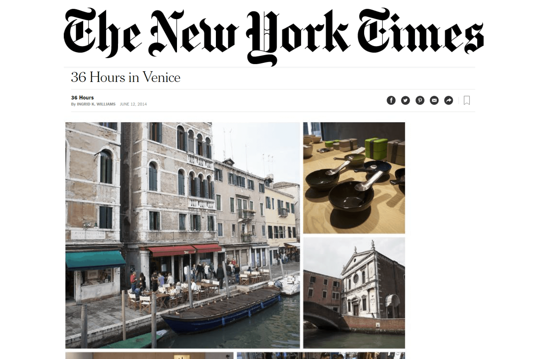 The New York Times – 36 ore a Venezia