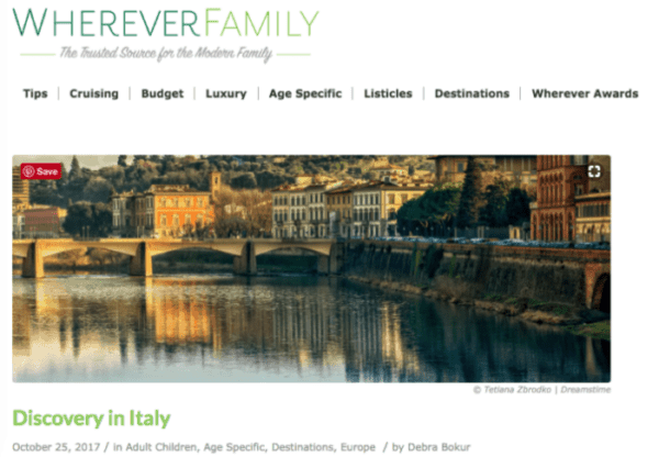 whereverfamily.com – Discovery in Italy