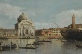 Venice,_a_view_of_the_Churches_of_the_Redentore_and_San_Giacomo,_with_a_moored_Man-of-war,_Gondolas_and_Barges